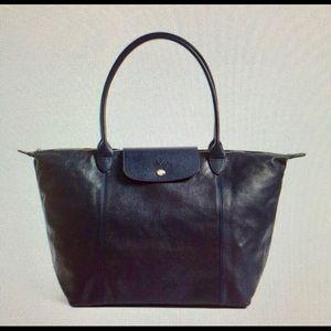 longchamp • le pliage cuir leather shoulder bag